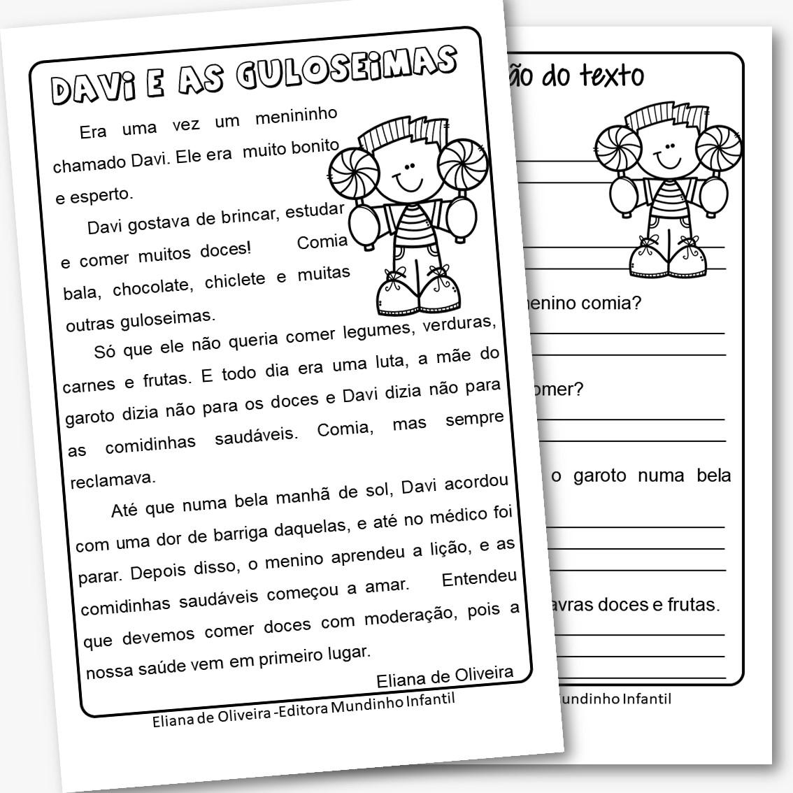 Exercícios de português 4º ano com leitura e interpretação em PDF