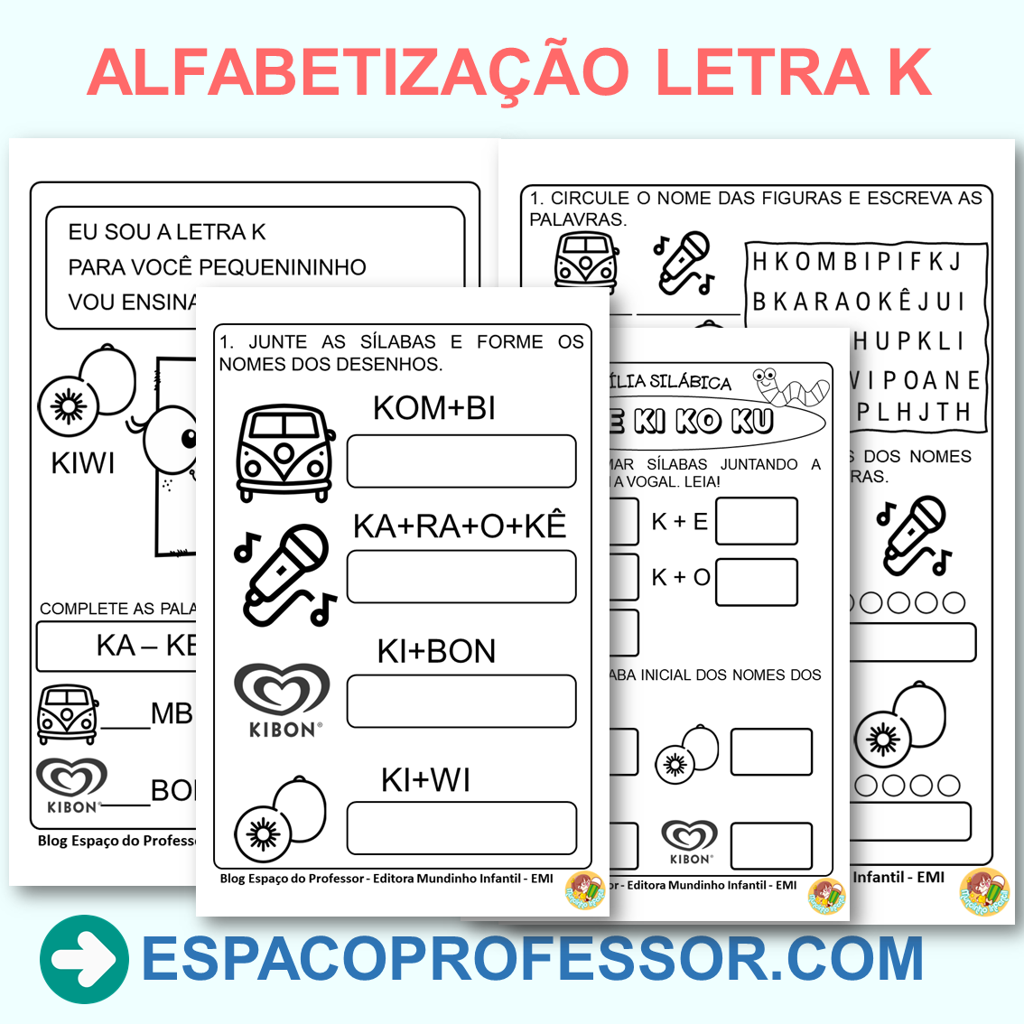 Atividades com a letra K em PDF para imprimir