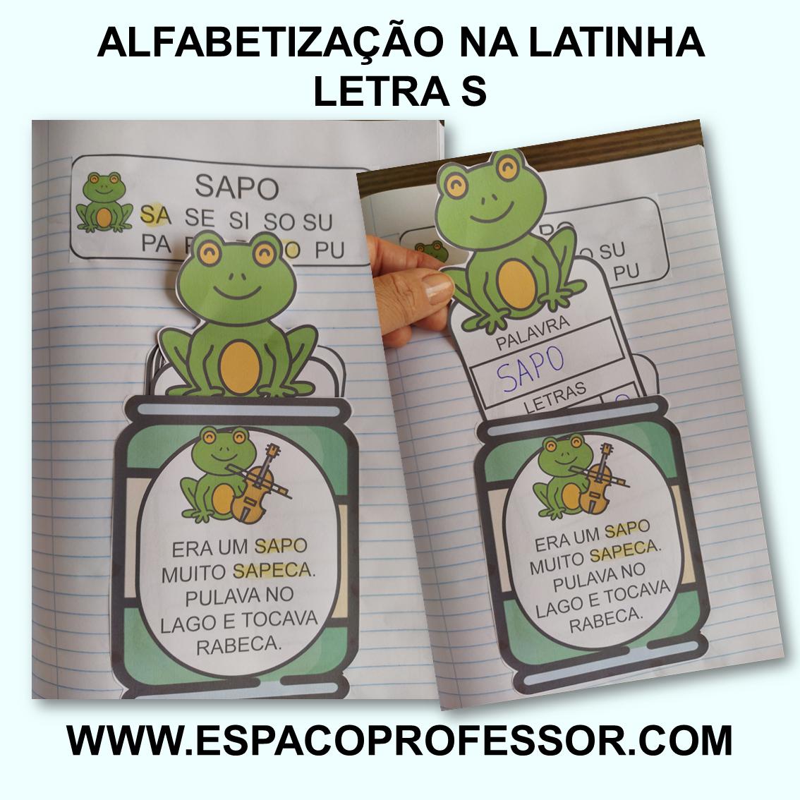 Atividade lúdica alfabetização na latinha letra S